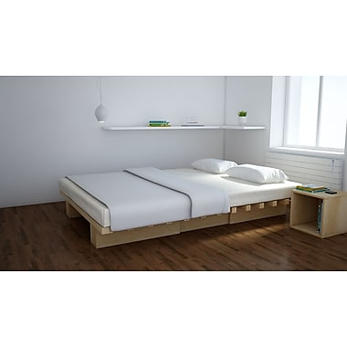 Quagga Designs Funline Acc180 Platform Bed, Natural Birch Oiled
