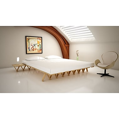 Quagga Designs Funline Flex180 Platform Bed, Natural Birch Oiled
