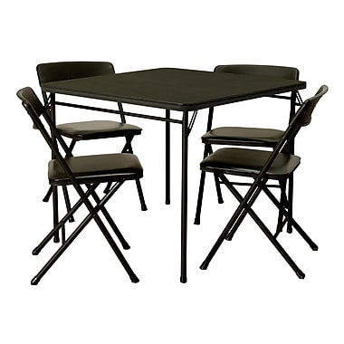 Cosco 5 Piece Folding Table And Chair Set Black Staples