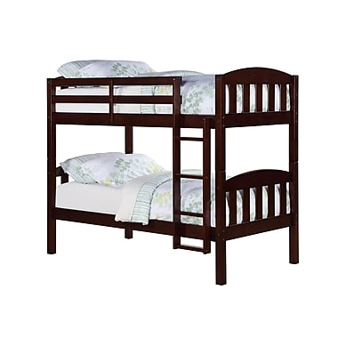 Dorel Living Twin/Twin Convertible Wood Bunkbed, Espresso