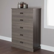 South Shore Gloria 5-Drawer Chest, Grey Maple , 34'' (L) x 17'' (D) x 51'' (H)