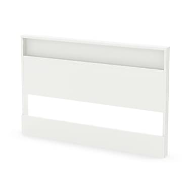 South Shore – Tête de lit Holland pour lit 2 places/grand lit (54/60 po), blanc pur, 60,5 larg. x 3,25 prof. x 40,5 haut. (po)