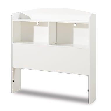 South Shore Logik Twin Bookcase Headboard (39''), Pure White , 41'' (L) x 7.5'' (D) x 41.75'' (H)