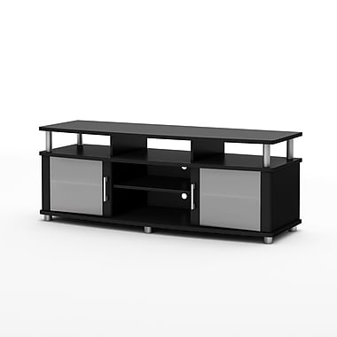 South Shore City Life TV Stand for TVs up to 60'', Pure Black , 59.25'' (L) x 19.5'' (D) x 22.25'' (H)
