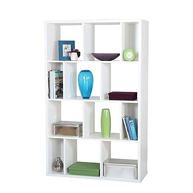 South Shore Reveal Shelving Unit with 12 Compartments, Pure White , 38.75'' (L) x 14.5'' (D) x 61.5'' (H)