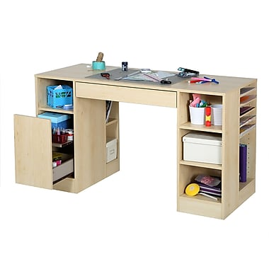 South Shore Crea Craft Table, Natural Maple , 53.5'' (L) x 23.5'' (D) x 30'' (H)
