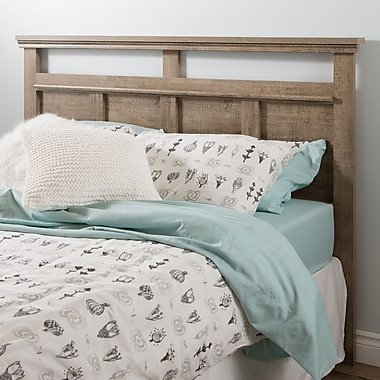 South Shore Versa Full/Queen Headboard (54/60''), Weathered Oak