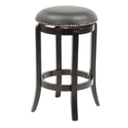 Wildon Home   24'' Swivel Bar Stool with Cushion; Espresso