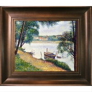 La Pastiche 'Gray Weather' by Georges-Pierre Seurat Framed Painting on Canvas