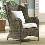 Panama Jack Sunroom Exuma Wingback Arm Chair w/ Cushion; Canvas Natural