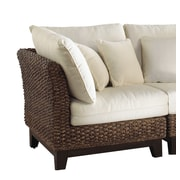 Panama Jack Sunroom Sanibel Corner Chair w/ Cushion; Bay Brown
