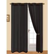 Sally Textiles Grace Curtain Panel (Set of 2); Black