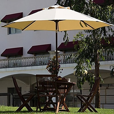 Abba Patio 9' Market Umbrella; Dark Green WYF078278560539