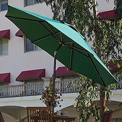 Abba Patio 9' Market Umbrella; Beige WYF078278560540