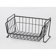 IRIS® Small Stacking Basket, Black (261006)
