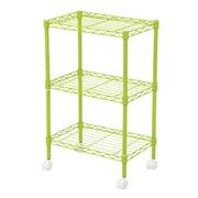 IRIS® 3-Tier Wire Shelf with Casters, Green (260452)