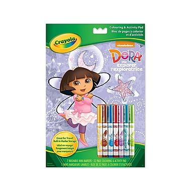 Crayola® Colouring and Activity Pad, Dora, 12/Pack