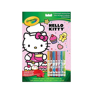 Crayola® Colouring and Activity Pad, Hello Kitty, 12/Pack