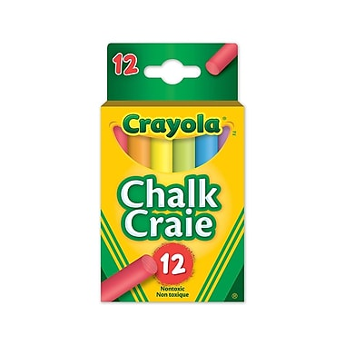 Crayola® Colourex Chalk, Assorted Colours, 12/Pack