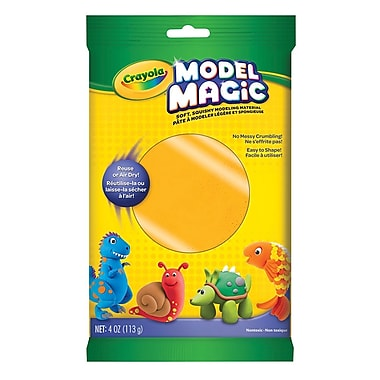 Crayola® - Pâte à modeler Model Magic, sachets de 113 g, jaune, paq./12
