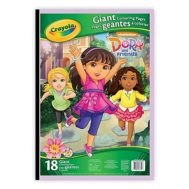 Crayola® Giant Colouring Pages, Dora, 12/Pack