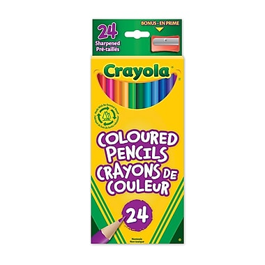 crayola coloured pencils 24 pack staples