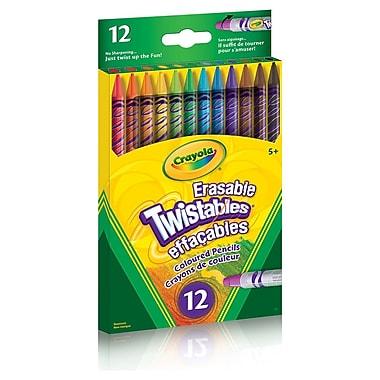 Crayola® Erasable Twistables Coloured Pencils, 12/Pack