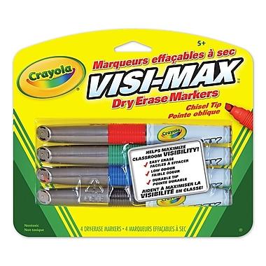 Crayola® - Marqueurs effaçables à sec, trait large, paq./12