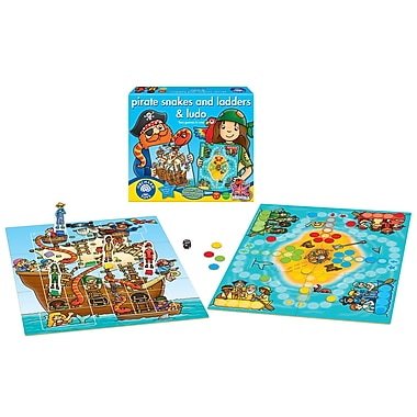 Orchard Toys Pirate Snakes and Ladders and Ludo, Multilingual