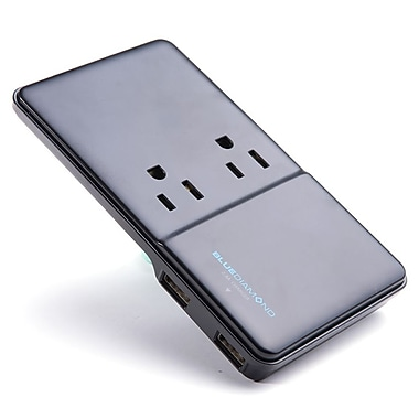 BlueDiamond Expand Slim + Charge Power Bar, 2 Outlets