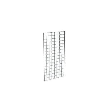 Econoco P3GW24 Gridwall Panel, Chrome, 4' x 2'