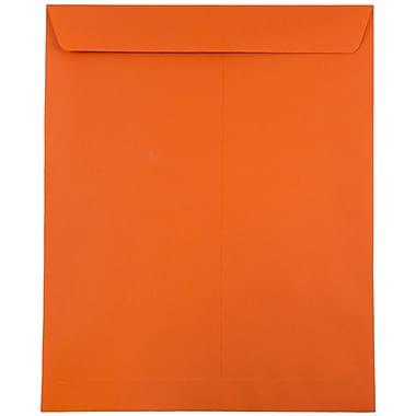 JAM Paper® 10 x 13 Open End Catalog Envelopes, Brite Hue Orange Recycled, 100/pack (87766)
