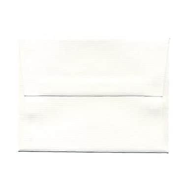 JAM Paper® A2 Invitation Envelopes, 4 3/8 x 5 3/4, Strathmore Bright White Pinstripe, 25/pack (43432)