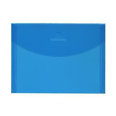 JAM Paper® Plastic Envelopes with Tuck Flap Closure, Booklet, 5 1/2 x 7 3/8, Blue Poly, 12/Pack (1541741)
