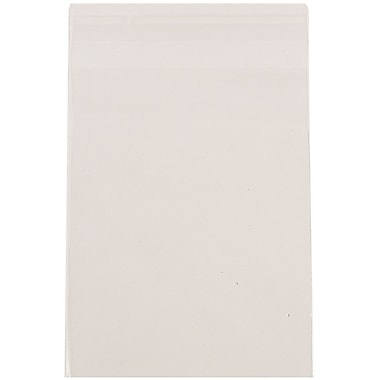 JAM Paper® Cello Sleeves with Self Adhesive Closure, 4 5/8 x 5 7/8, Clear, 100/pack (A2CELLO)
