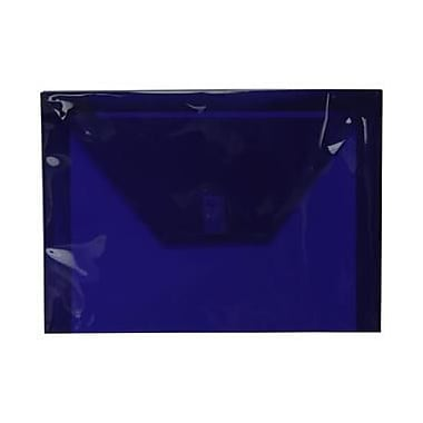 JAM Paper® Plastic Envelopes with VELCRO® Brand Closure, Letter Booklet, 9.75 x 13, Dark Blue Poly, 12/Pack (218V0DKBU)