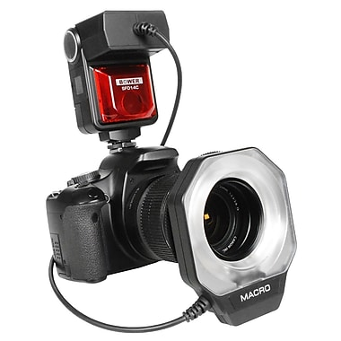 Bower® SFD14 Fully Dedicated i-TTL Digital Macro Ring Flash for Nikon Cameras