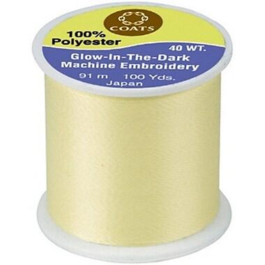 Glow In The Dark Machine Embroidery Threadm, Yellow, 100 Yards