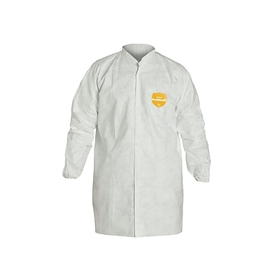 DuPont XL Disposable Lab Coats, White (DUP TY212S-XL)