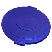 Carlisle Polyethylene Round Lid for 44 gal. Bronco Series Container, Blue