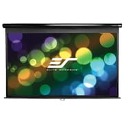 "Elite Screens Manual Series 119"" Manual Wall / Ceiling Mount  Projector Screen, 1:1, Black Casing"