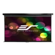 "Elite Screens Manual Series 80"" Manual Wall / Ceiling Mount  Projector Screen, 16:9, Black Casing"