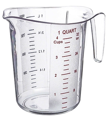 Update International 1 Quart Plastic Measuring Cup 416028
