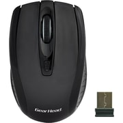 Gear Head MP2325BLK USB Wireless Optical Nano Mouse, Black