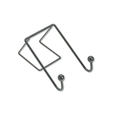 Fellowes Partition Additions Cubicle Coat Hooks, Black, Each (75510)