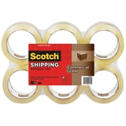 "Scotch Commercial Grade Shipping Packing Tape, 1.88"" x 54.6yd, Clear, 6 Rolls/Pack (3750-6)"