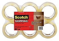Scotch Commercial Grade Shipping Packing Tape, 1.88' x 54.6yd, Clear, 6 Rolls/Pack (3750-6)