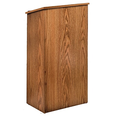 Oklahoma Sound Floor Lectern, Medium Oak (222-MO)