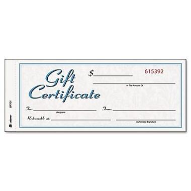 Adams® Gift Certificates, 25/Pack