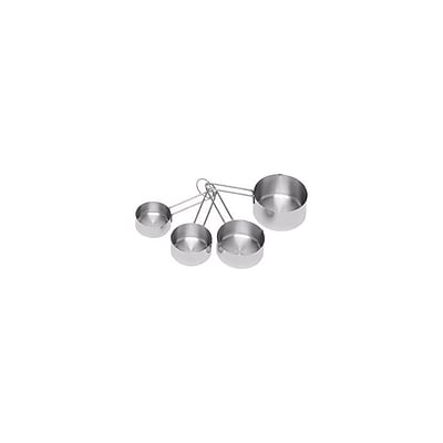 Update International Set of 4 Stainless Steel Measuring Cups 448812